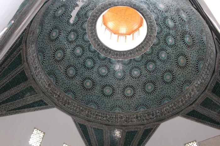 Голубой купол внутри