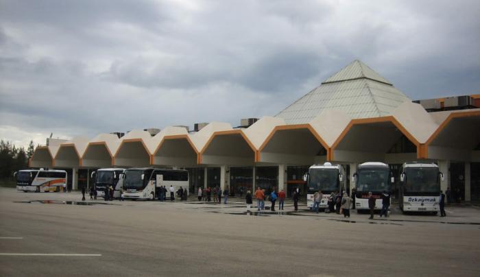 Пункты отправления автобусов