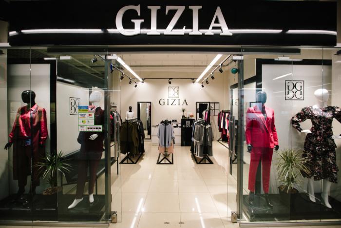 Витрина магазина Gizia