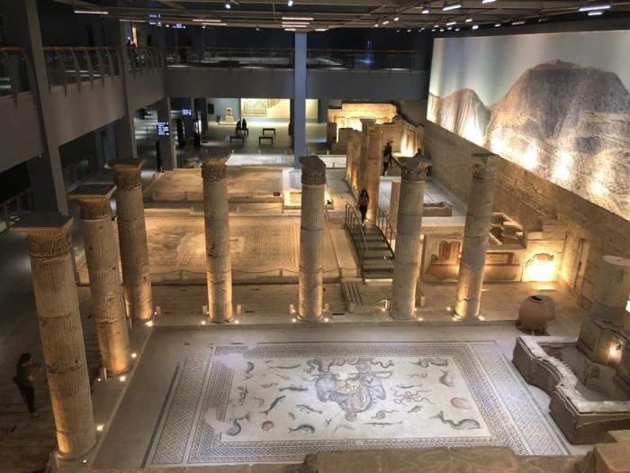 Обзор экспозиций со второго этажа музея Мозаик в Стамбуле