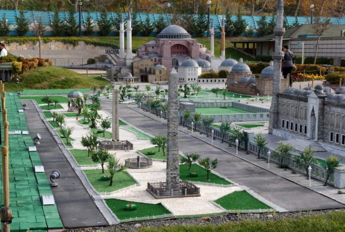 Площадь Султанахмет в миниатюре