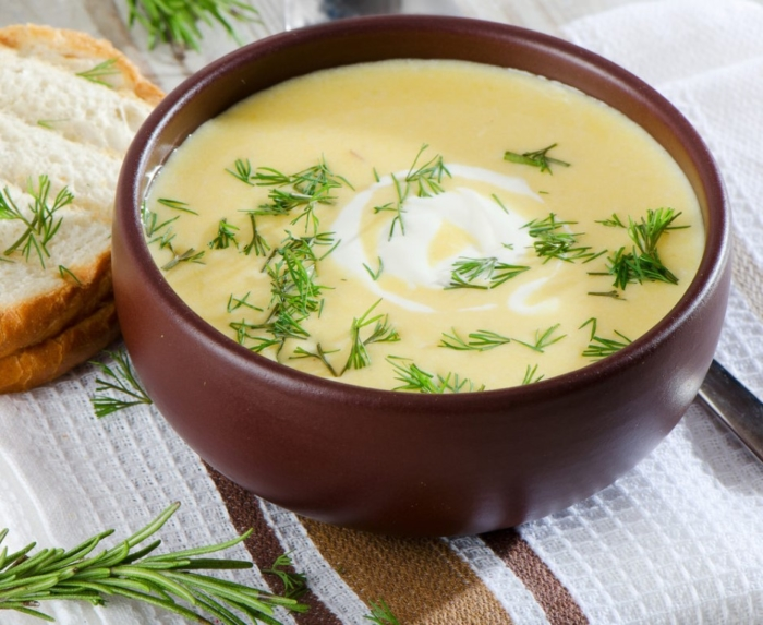 Мясной суп-пюре с картошкой