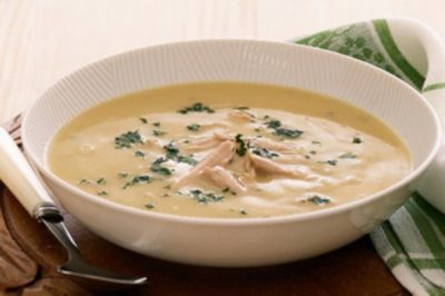Суп пюре с курицей домашних