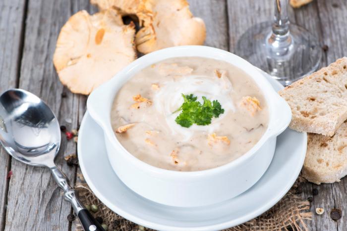 Сливочное блюдо с грибами