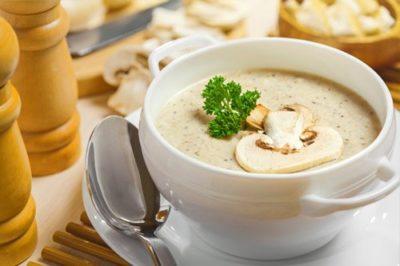 грибной суп со сливками из замороженных грибов рецепт