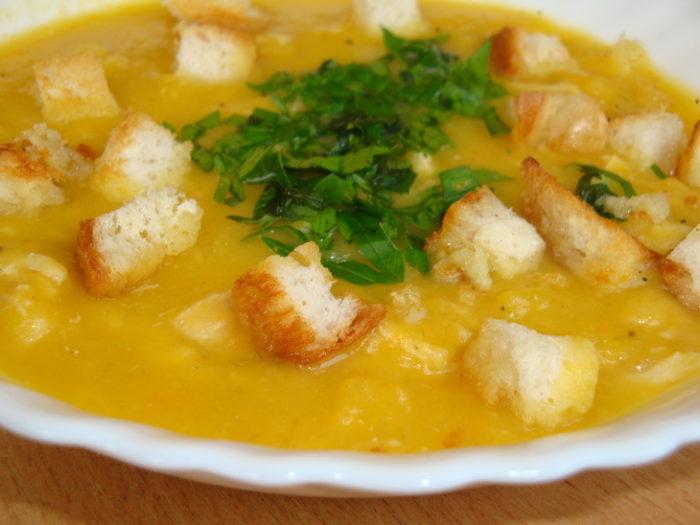 Тыквенный суп-пюре с курицей рецепт с фото пошагово
