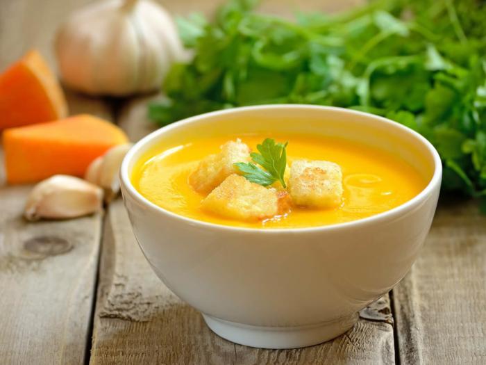 Тыквенное блюдо с плавленым сыром