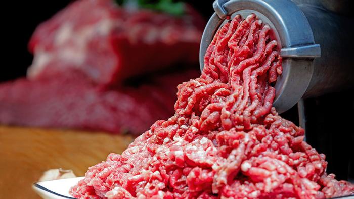 Смешанный фарш для люля из мясорубки