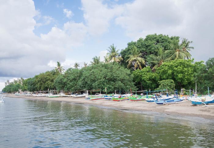 Лодки для снорклинга на Lovina Beach