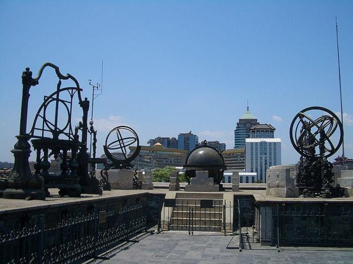 Армиллярная сфера в старой пекинской обсерватории