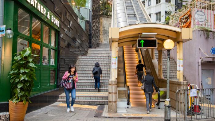 Самый длинный эскалатор в мире (Гонконг, Китай)