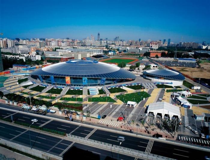 Обзор Олимпийского Парка в Китае с высоты птичьего полета