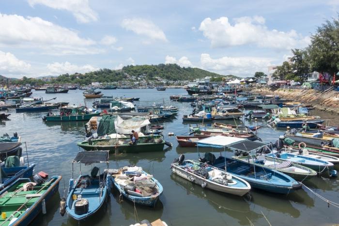 Лодки рыбаков в Ченг Чау