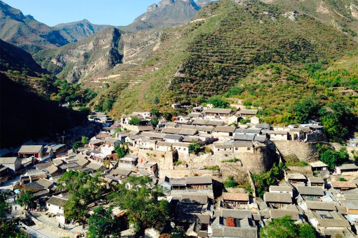 Вид на деревню Чуандиксия с высоты