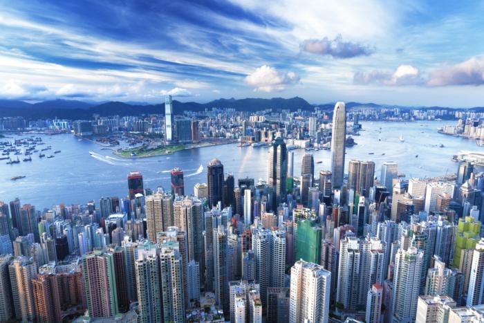 Обзор небоскребов Гонконга с высоты птичьего полета