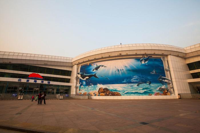 Вход в Пекинский аквариум