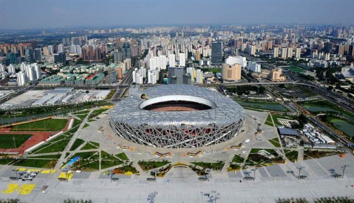 Стадион в виде птичьего гнезда в Китае