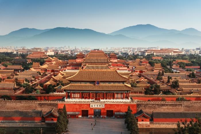Обзор Запретного города в Китае с высоты