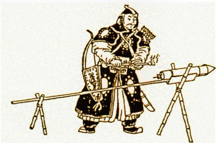 Пороховая пушка из бамбука