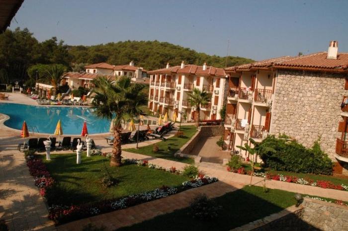 Обзор территории отеля Telmessos в Фетхие (Турция)