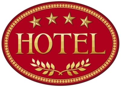 Знак гостиницы с 4 звездами
