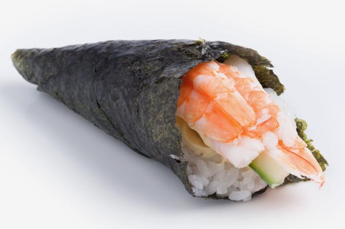 Классический вариант темаки суши
