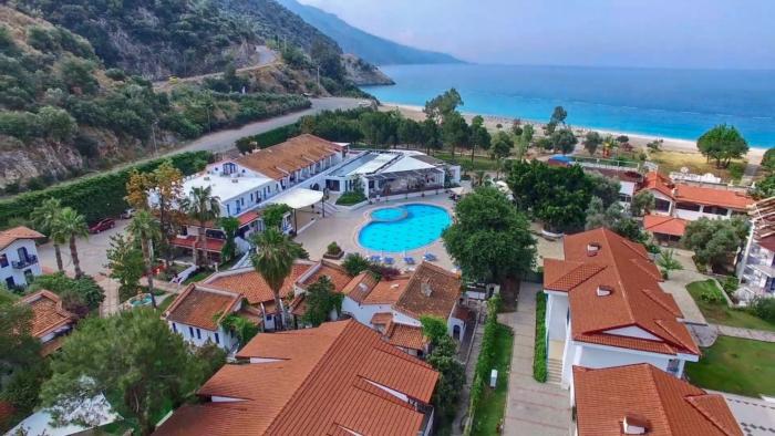 Взгляд на территорию Oludeniz Resort с высоты птичьего полета