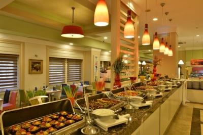Ресторан в главном здании отеля Orange County Resort 5* (Beldibi, Kemer, Turkey)
