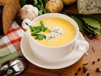 Классический сырный суп-пюре